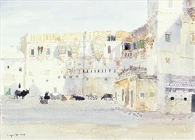 Evening at the Palace, Bhuj, 1999 (w/c on paper)