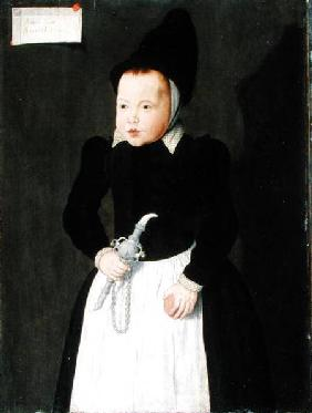 A Portrait of a Child Holding a Rinkelbel