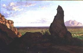 Landscape with a Prominent Rock