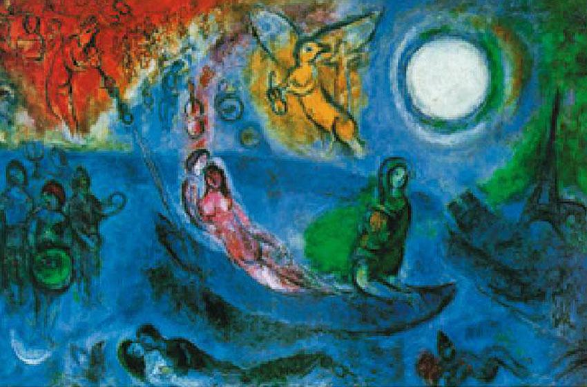 Marc Chagall Reproductions Et Copies Fabriquees Sur Mesure Par Repro Tableaux Com