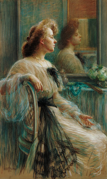 Lady in front of the mirror marie louise breslau for Devant le miroir