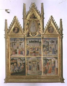 Scenes from the Life of Christ and of the Virgin, polyptych