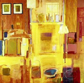 Room at Giverny, 2000 (acrylic on canvas)