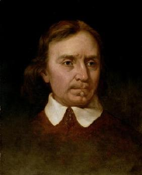 Portrait study of Oliver Cromwell (1599-1658) (oil on canvas)