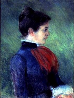 Study of a Woman in a Blue Blouse with a Red Ruff