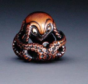 Netsuke depicting an octopus