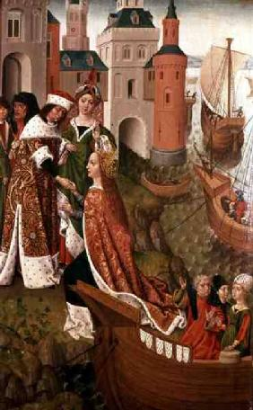 St. Ursula bidding Farewell to her Parents