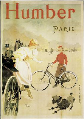 Poster advertising 'Humber' bicycles