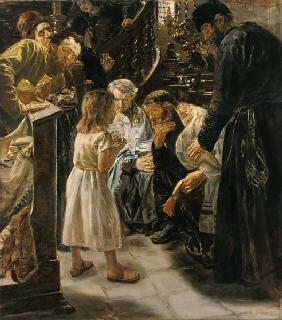 The Twelve-Year-Old Jesus in the Temple, 1879 (oil on canvas)