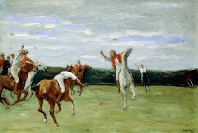 Polo player in Jenischpark, Hamburg, 1903 (oil on canvas)
