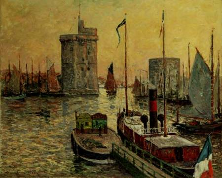 the port of la rochelle maxime maufra. Black Bedroom Furniture Sets. Home Design Ideas