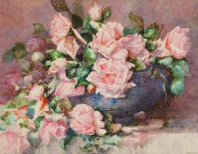 A Bowl of Pink Roses