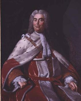 Sir Robert Walpole, Earl of Orford (1676-1745), first Lord of the Treasury and Chancellor of the Exc
