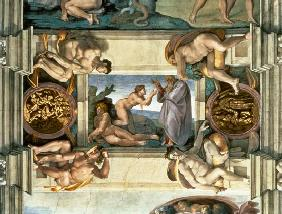 Sistine Chapel Ceiling: Creation of Eve, with four Ignudi