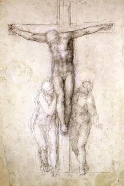 Study of Christ on the Cross between the Virgin and St. John the Evangelist