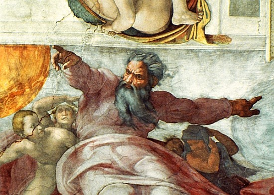 Sistine Chapel Ceiling Creation Of The Sun And Moon 1508 ...