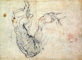 Preparatory Study for the Arm of Christ in the Last Judgement, 1535-41