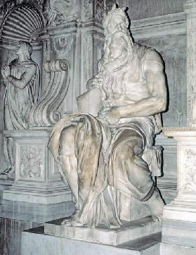 Moses, sculpture from the tomb of Pope Julius II (1453-1513) 1513-16 (marble)