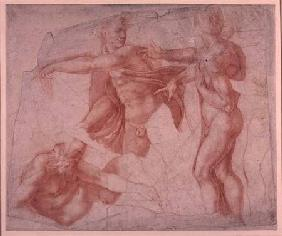 Studies of Male Nudes (red chalk)