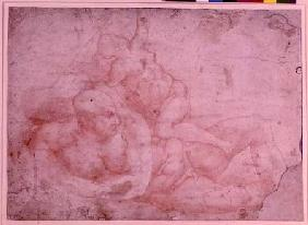 Study of a Male and Female Nude (red chalk)