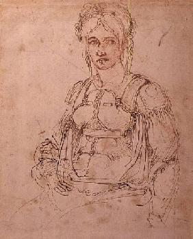 W.41 Sketch of a seated woman