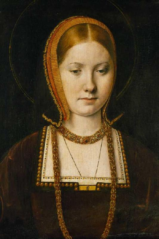 Titre de l'image : Michiel Sittow - <b>Mary Rose</b> Tudor (1496-1533 - mary_rose_tudor_1496_1533_schw