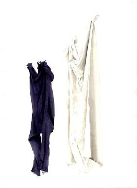 Cot Sheet and Old Guernsey, 2004 (w/c on paper)