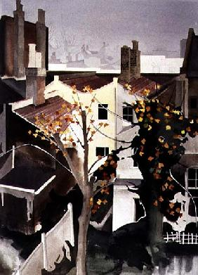 Dank Roofscape, 1992 (w/c on paper)