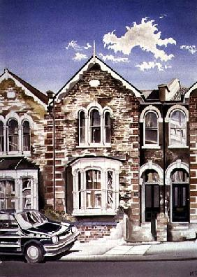 George Cragg''s Birthplace at Number 22, 1997 (w/c on paper)