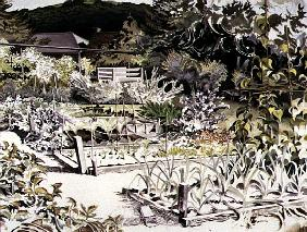 Kitchen Gardens, Uley House (w/c on paper)