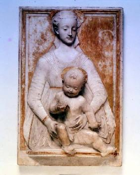 Madonna and Child, bas relief