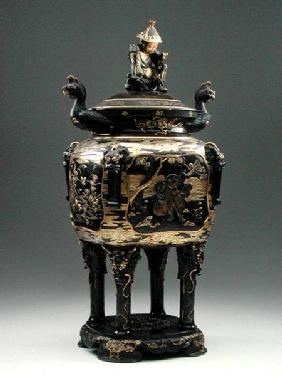 Bronze censer and cover, Meiji period