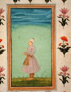 Standing figure of a boy with a jewelled dagger in his sash, from the Small Clive Album