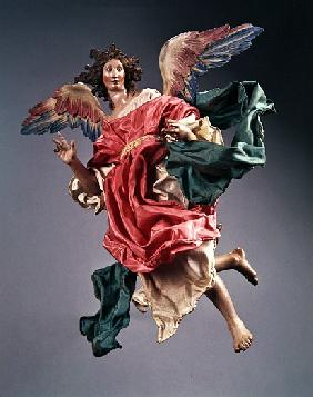 Angel, from the Christmas Creche and tree (terracotta & cloth)