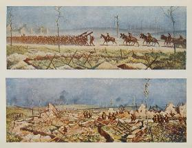 The Roads of France, C and D, from British Artists at the Front, Continuation of The Western Front