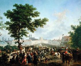 The Entry of Napoleon Bonaparte (1769-1821) and the French Army into Munich, 24th October 1805