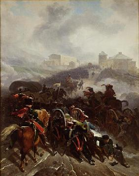 The French Army Crossing the Sierra de Guadarrama, Spain, December 1808