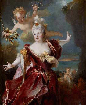 Portrait of Marie Anne de Châteauneuf , called Mademoiselle Duclos, in the role of Ariadne