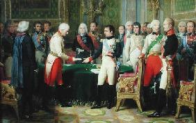 Napoleon I (1769-1821) Receiving Baron Vincent, the Austrian Ambassador, at Erfurt, 28th October 180
