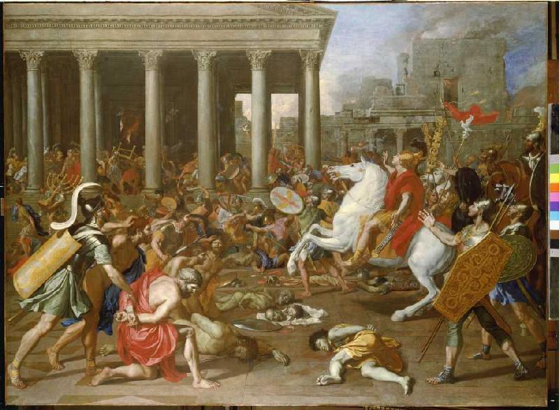 The Destruction Of The Temple In Jerusal Nicolas Poussin En Reproduction Imprimee Ou Copie Peinte A L Huile Sur Toile