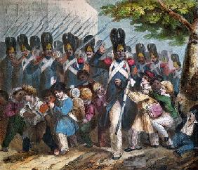 The Grenadiers of Napoleon I (1769-1821), c. 1820 (coloured engraving)