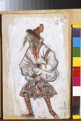 Costume design for the ballet The Rite of Spring (Le Sacre du Printemps) by I. Stravinsky