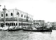 View of Palazzo Ducale and the Riva degli Schiavoni (b/w photo)