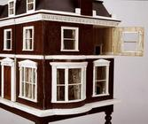 'The Cedars, Woodbridge', dollshouse, detail of exterior, English, late 19th century (mixed media) (