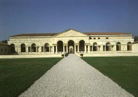 The Loggia di Davide (or D'Onore), garden facade designed by Giulio Romano (1499-1546), 1524-34 (pho