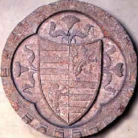 Coat of arms of the Gonzaga family, 1st half of 15th century (marble)