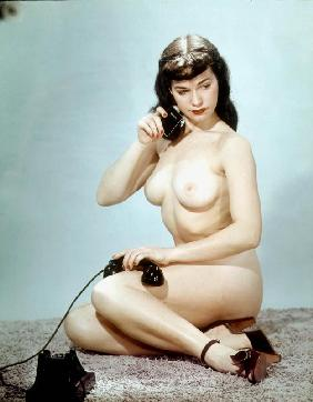 American pin-up Betty Page