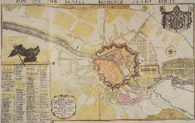 Berlin, town map / 1723 / Engraving