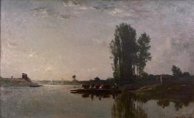 C.F.Daubigny, The ferry at Bonnières