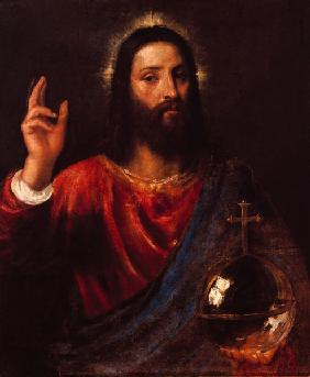 Christ blessing / Titian / c.1565